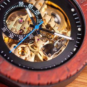 Wooden Steampunk Skeleton Wristwatch Watch. 5