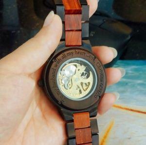 Wooden Steampunk Skeleton Wristwatch Watch. 6