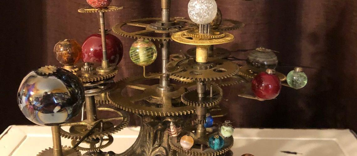 Steampunk Solar System Orrery Sculpture. 1