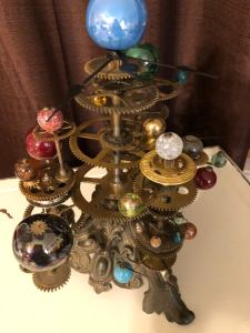 Steampunk Solar System Orrery Sculpture. 2