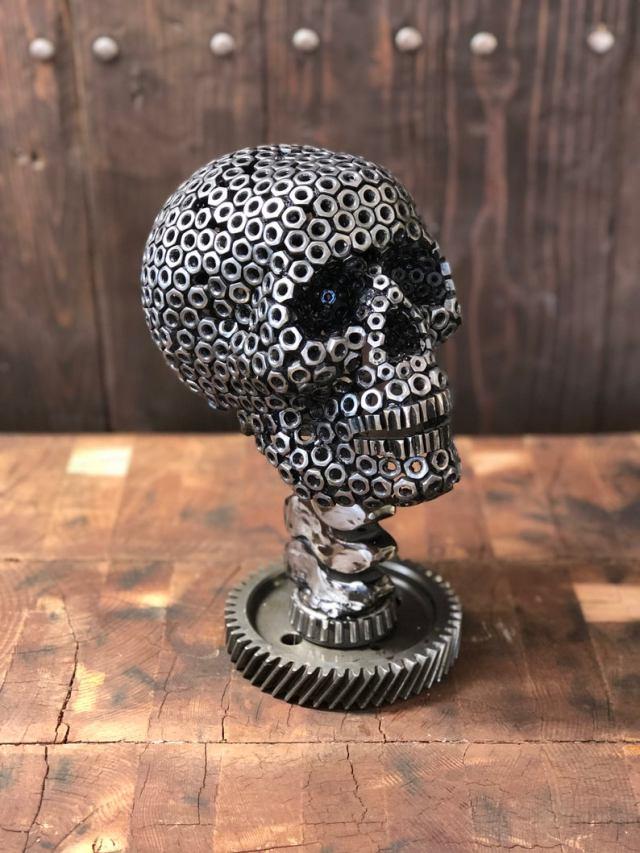 A Nutty Steampunk Skull Sculpture. 2