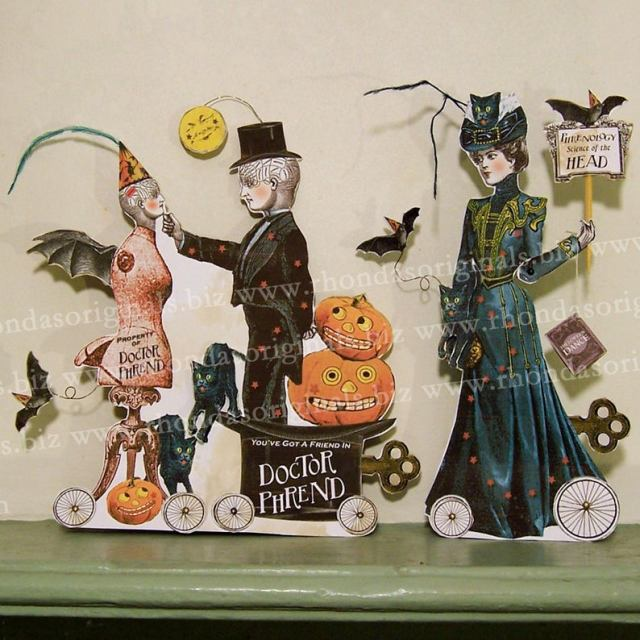 Printable Paper doll Haloween decoration.  1
