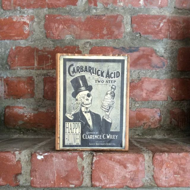 Steampunk Mock Vintage Ad sign on wood. 1