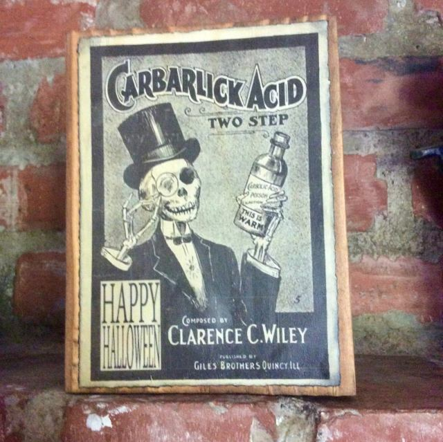 Steampunk Mock Vintage Ad sign on wood. 2