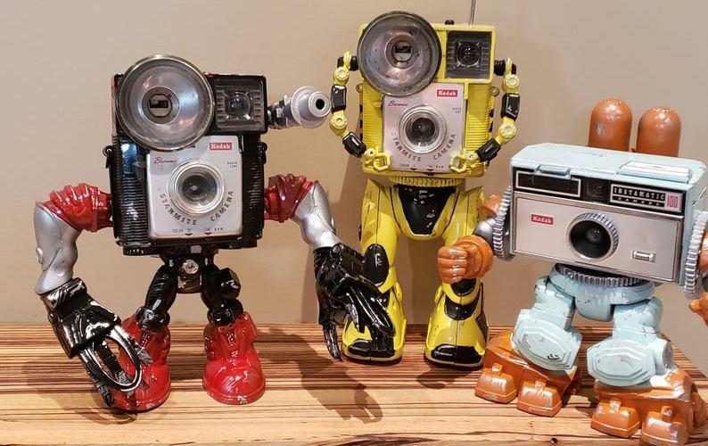 Amazing Vintage Camera Robots by Paul McCue.