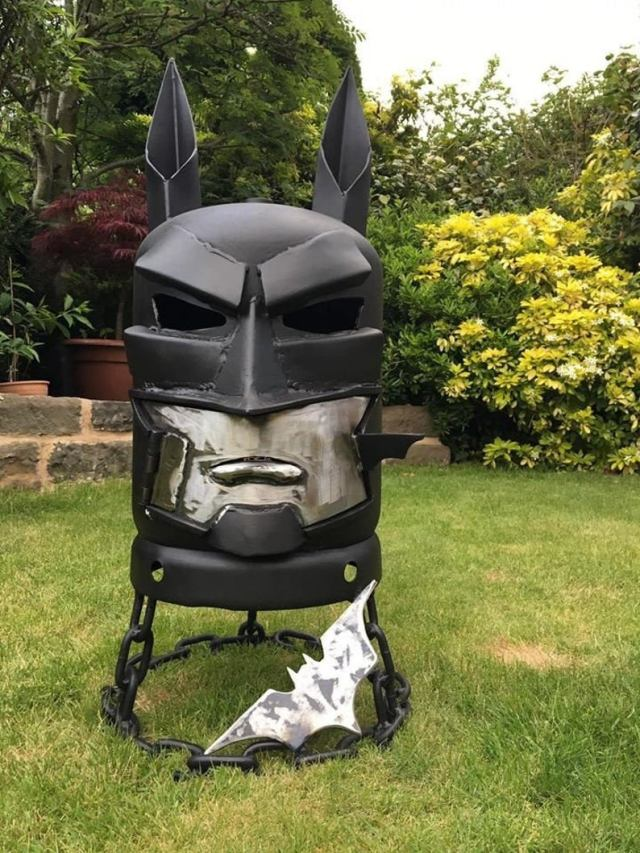 Batman Wood Burner - Batman Fire Pit - DC Comics - DC Comic Art - Metal Art Garden - Metal Art Home - Fire Pit - Wood Burner  1