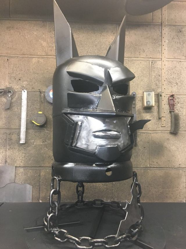 Batman Wood Burner - Batman Fire Pit - DC Comics - DC Comic Art - Metal Art Garden - Metal Art Home - Fire Pit - Wood Burner  4