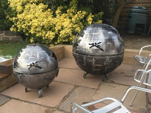 Death Star Wood Burner - Death Star Fire Pit - Star Wars Fire Pit - Death Star - Metal Art - Fire Pit - Wood Burner  4