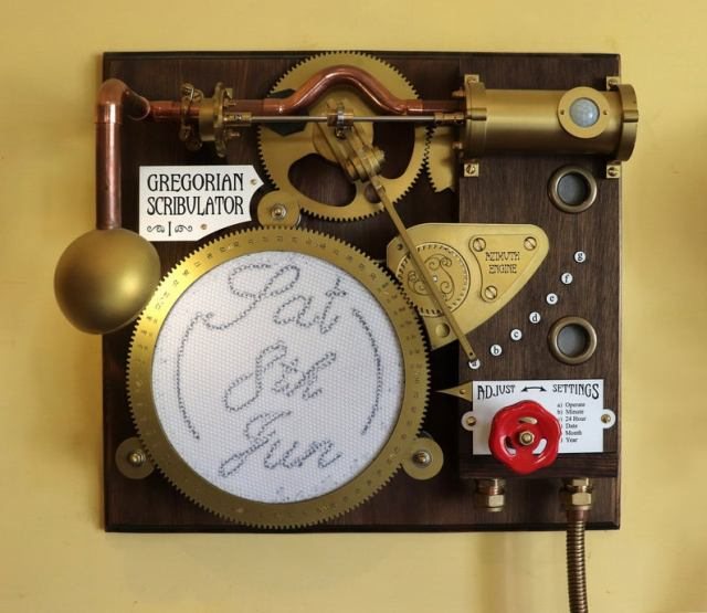 Gregorian Scribulator Date Writing Machine. Steampunk Inventions By John Bunce.
