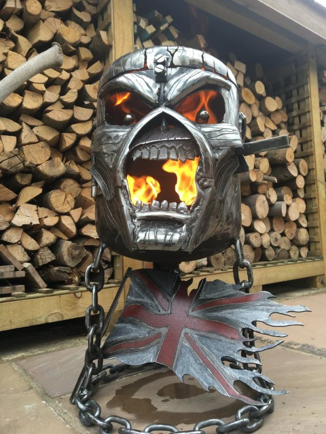 Iron Maiden Fire Pit - Iron Maiden Wood Burner - Eddie Fire Pit - Eddie Wood Burner - Metal Art  2