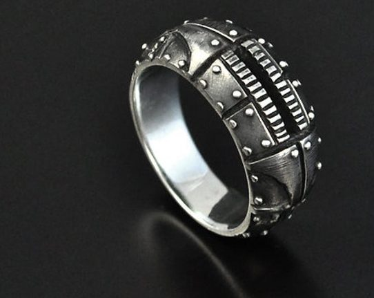 """Silver steampunk industrial contemporary ring """"Odum 2"""" 