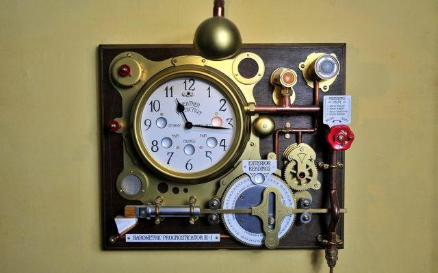 The Barometric Prognosticator 3 Working Steampunk Weather Machine 1
