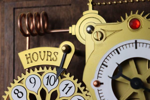 The Chronograph Steampunk Clock  4