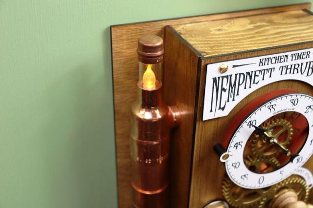 The Nempnett Thrubwell Steampunk Kitchen Timer Kit  lamp