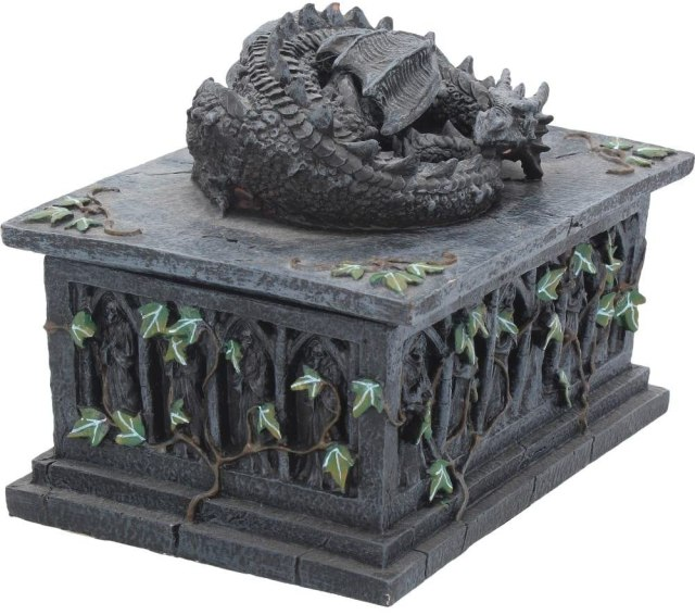 Nemesis Now Dragon Tarot Box Black, Resin, 18cm