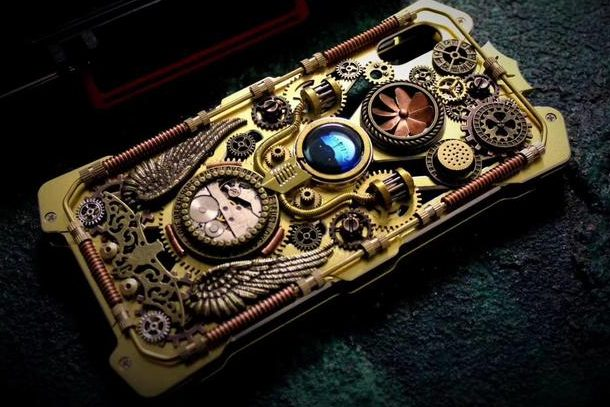 Handmade-Steampunk-Phone-Case-Gothic-Skull-Mobile-Phone-Back-Cover-Biker-Style-Metal-Retro-Skull-Navy-Compass-Personalised-Gift-1