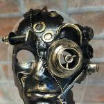 Steampunk Face Mask, Halloween Mask, Handmade in Papier-Mache