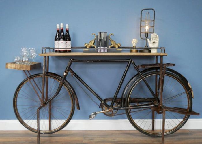 Vintage Bicycle Sideboard ConsoleTable.