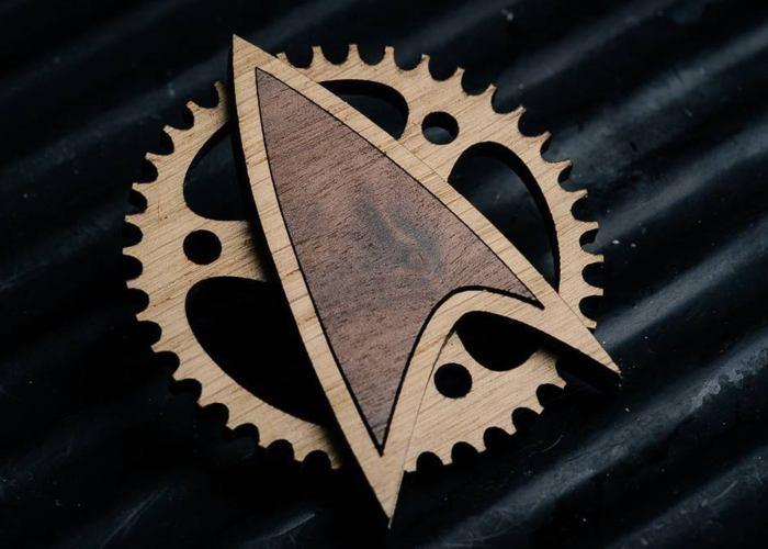 Steampunk Star Trek Badge. By The Laser Geek.