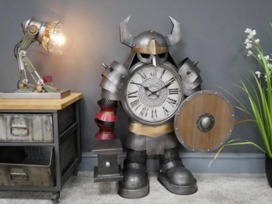Huge Steampunk Warrior Clock. From Carmen By James.