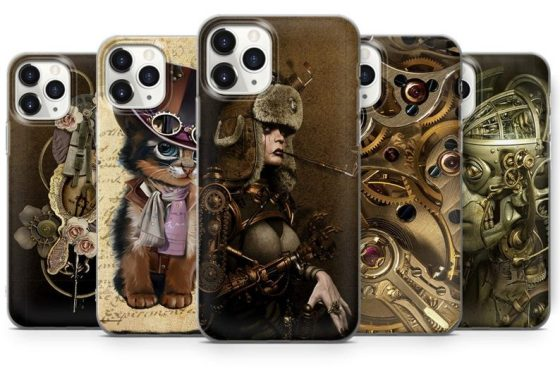 Gothic Steampunk iPhone 13 & 13 pro Case. Also available for iphone 12, 11, XR, XS, 8 & 7. Created by S T Cover.