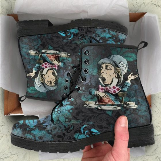 Alice In Wonderland's Mad Hatter -Lace up Festival Bohemian Doc Style Boots. Created by MaWeePet.