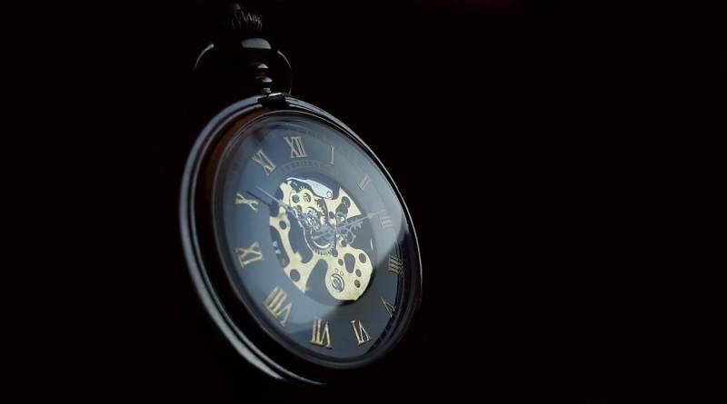 steampunk watch black