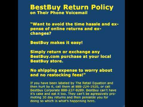 Best Buy Return Policy
