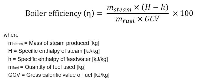 Boiler efficiency _ formel