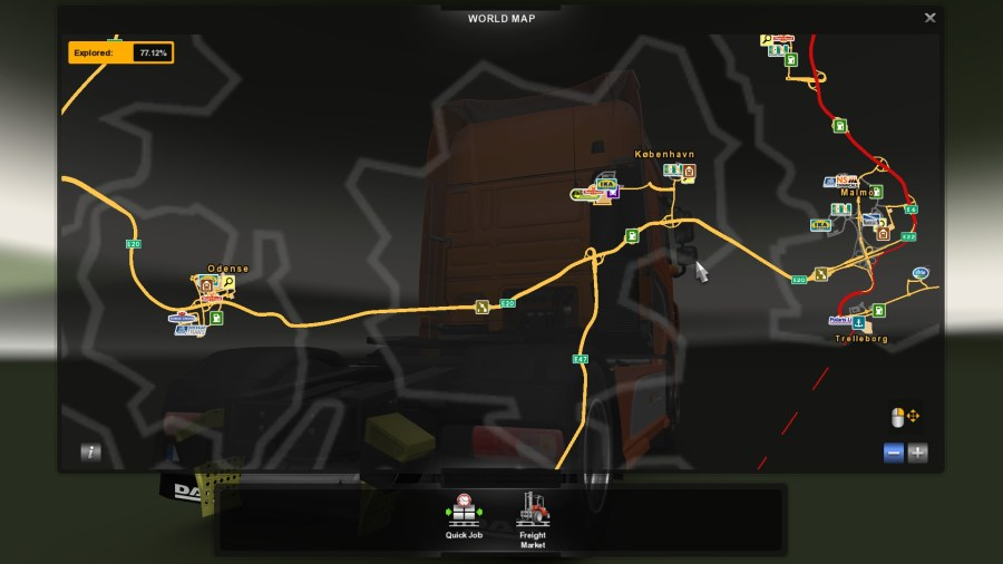 Steam Community    Guide    All achievements Euro Truck Simulator 2     You need to travel from Odense  K    benhavn  and Malm      Two bridges really  easy and fast