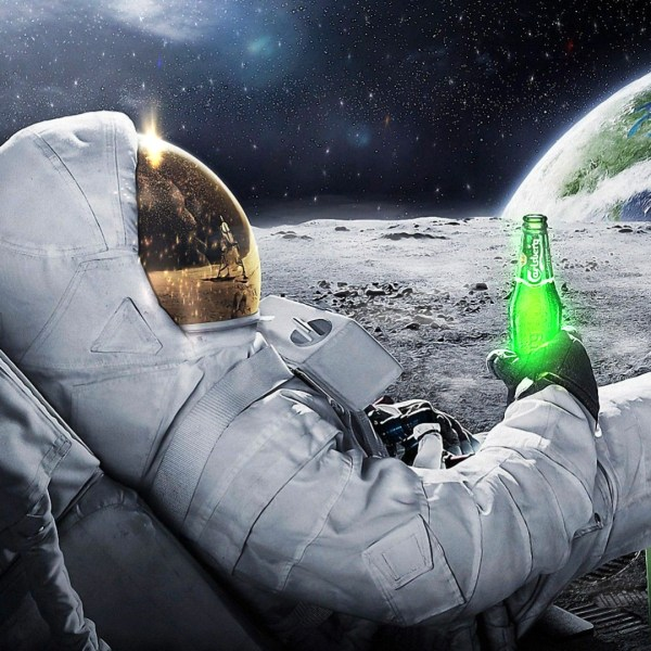 Royalty Free Astronaut Drinking Beer On Moon Wallpaper ...