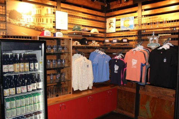 Stop by our shop and buy swag shirts hats pint glasses growlers tin signs