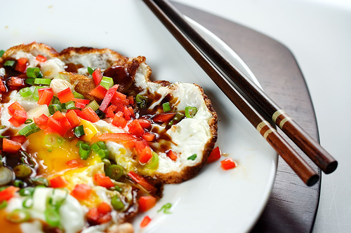 Fried Egg with Oyster Sauce and Chili