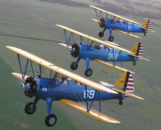 3 army stearmans
