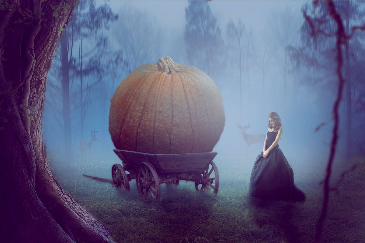 Pumpkin on a carriage