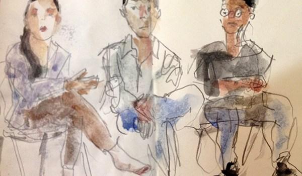 Stebos's portrait (center) by Jason Das (collaborate:create 2015)