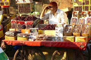 Bazaren i Old Delhi, Indien.