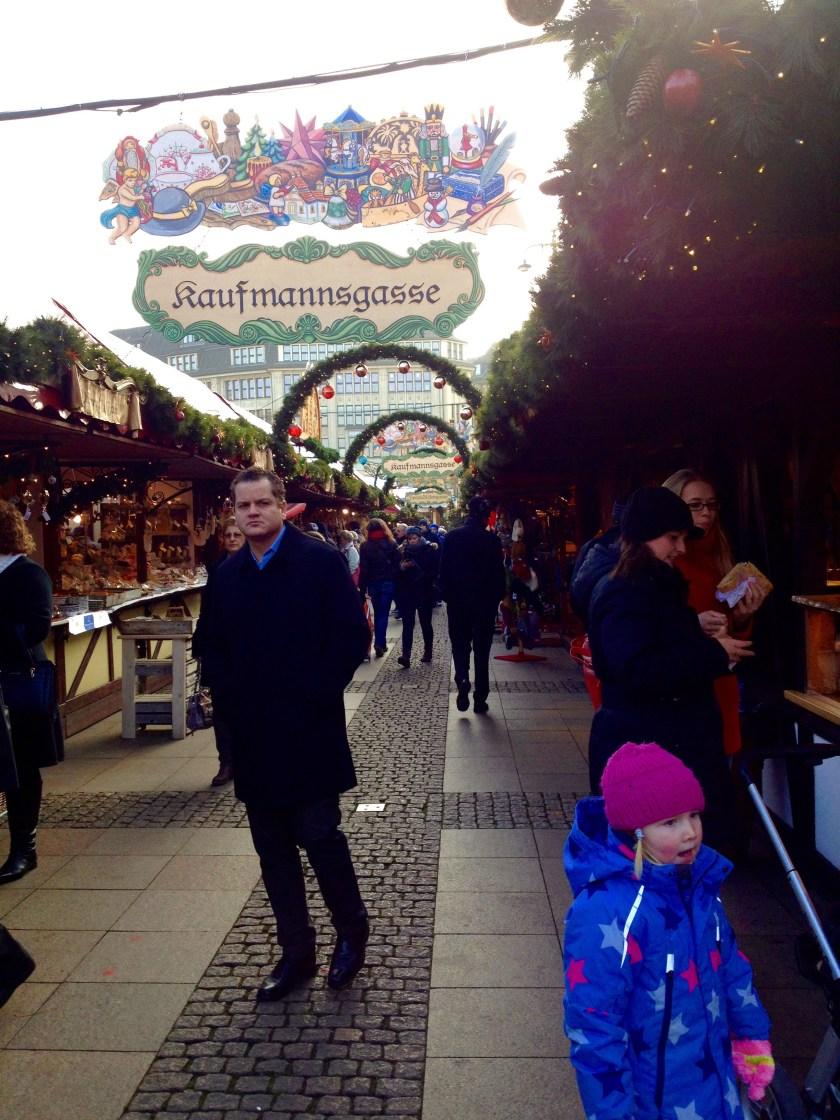 Julemarked Hamburg. Historischer Weihnachtsmarkt i Hamburg, Tyskland.