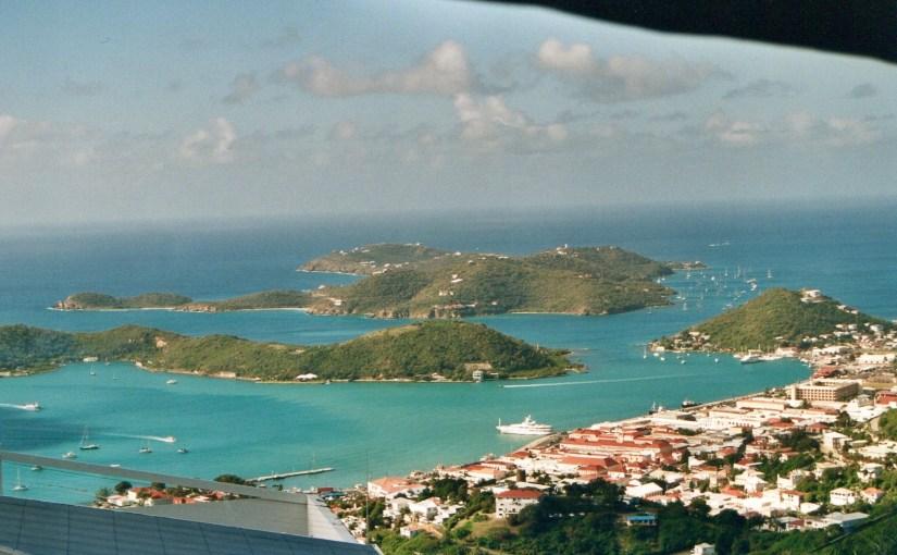 Udsigt over Charlotte Amalie, St. Thomas, US Virgin Islands.