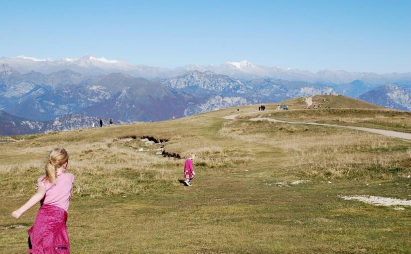 Helt på toppen på Monte Baldo