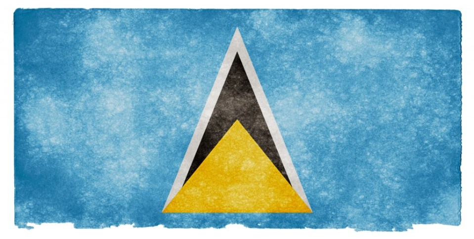 st lucia flag Steelasophical Steel Band