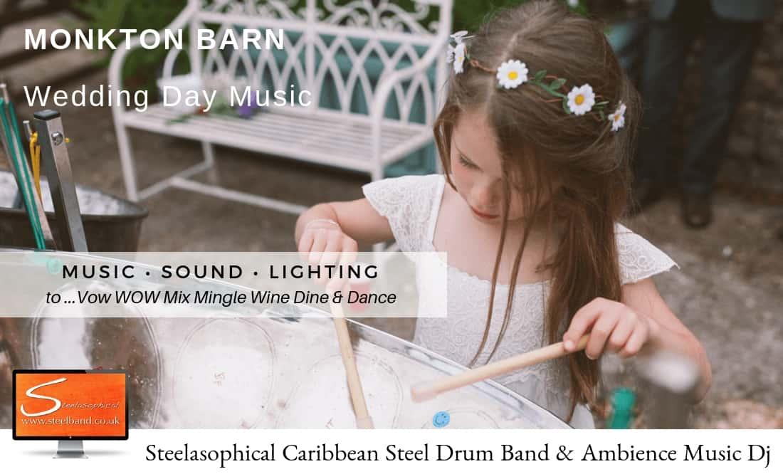Steelasophical Wedding Steel Band | Monkton Barn