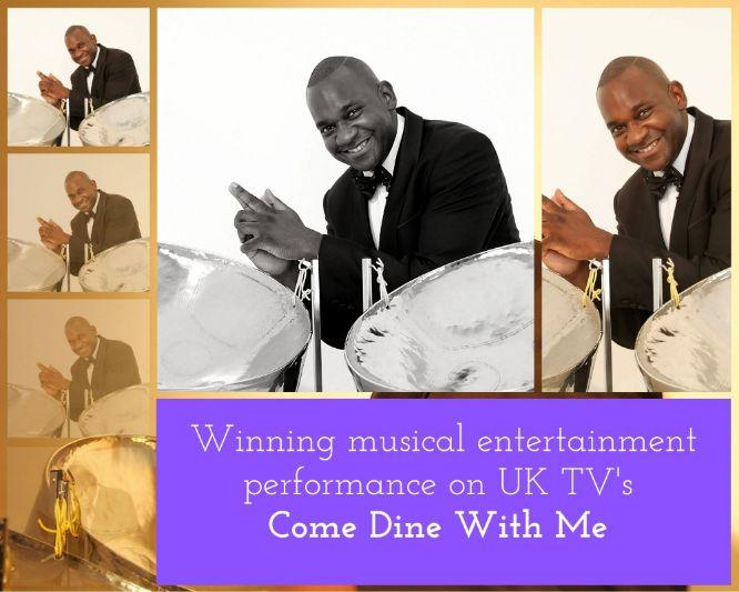 Gary Trotman Steelasophical | Steelband | SteelPan | Steeldrums Come Dine With me