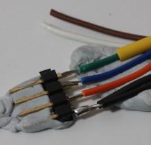 preparing to solder wires