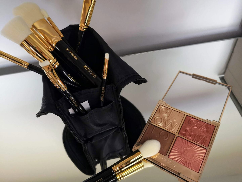 Gold plated, Vegan Makeup Brushes From Kit Stars