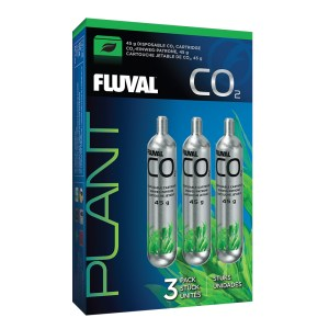 Fluval Pressurized Disposable CO2 Cartridge, 3 x 45 g