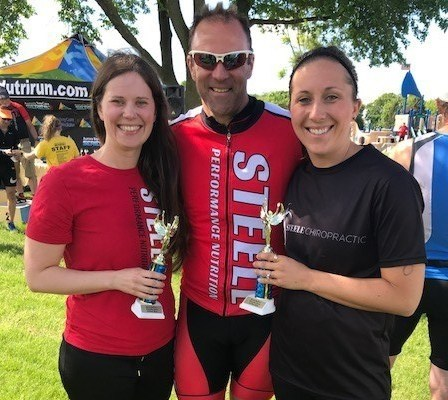 Team Steele Chiropractic Takes 1st In Co-ed Division At Aurora Baycare Triathlon