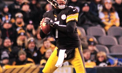 Ben Roethlisberger drops back versus the Cincinnati Bengals. -- ED THOMPSON