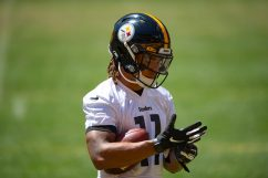 Pittsburgh Steelers wide receiver Chase Claypool (11) trains at Heinz Field during the Steelers 2020 Training Camp, Friday, Aug. 19, 2022 in Pittsburgh, PA. (Caitlyn Epes / Pittsburgh Steelers)