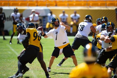 Pittsburgh Steelers quarterback Ben Roethlisberger (7) trains at Heinz Field during the Steelers 2020 Training Camp, Wednesday, Aug. 19, 2020 n Pittsburgh, PA. (Caitlyn Epes / Pittsburgh Steelers)